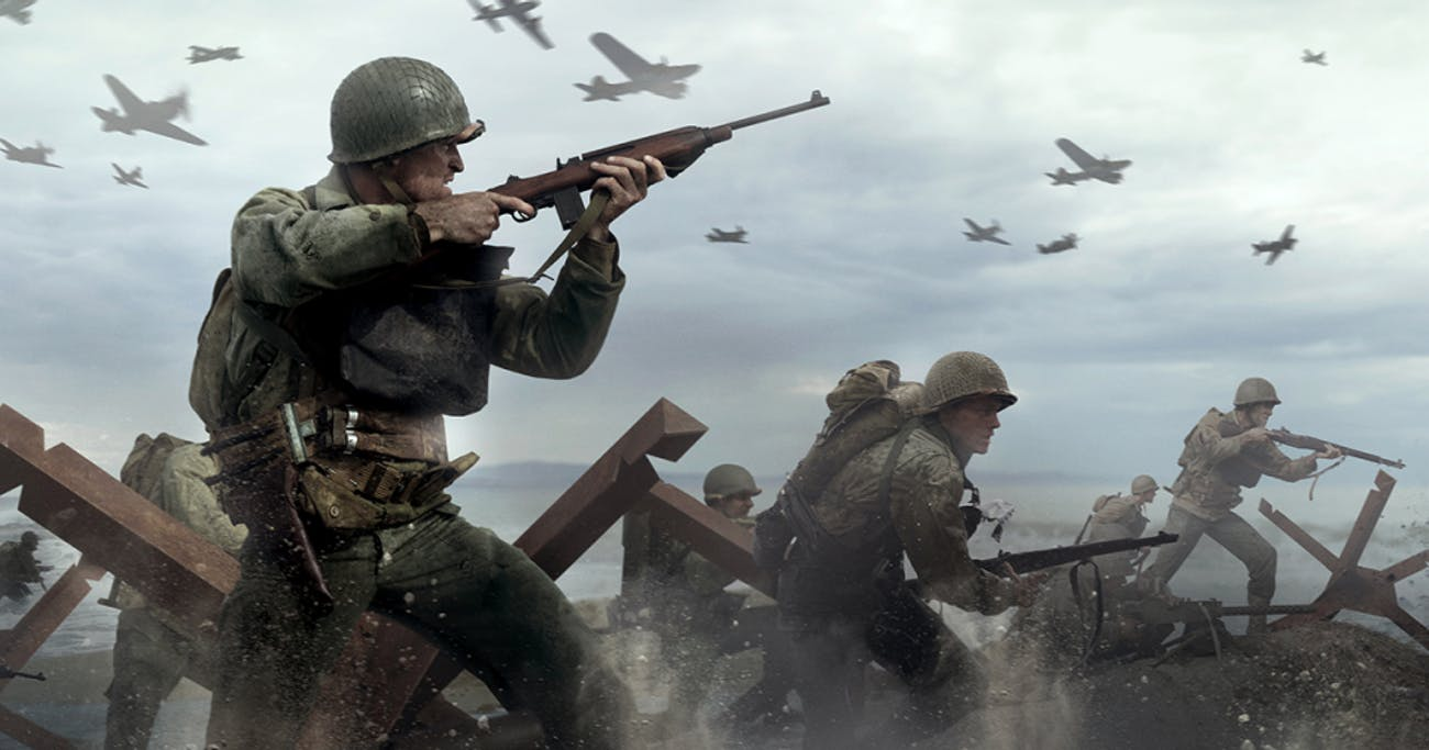 The first 'Call of Duty: WWII' mission has you storm the beaches of Normandy in the famous battle.