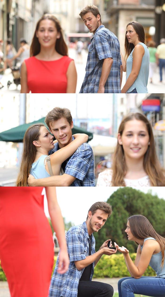 Boyfriend Girlfriend Cat Meme