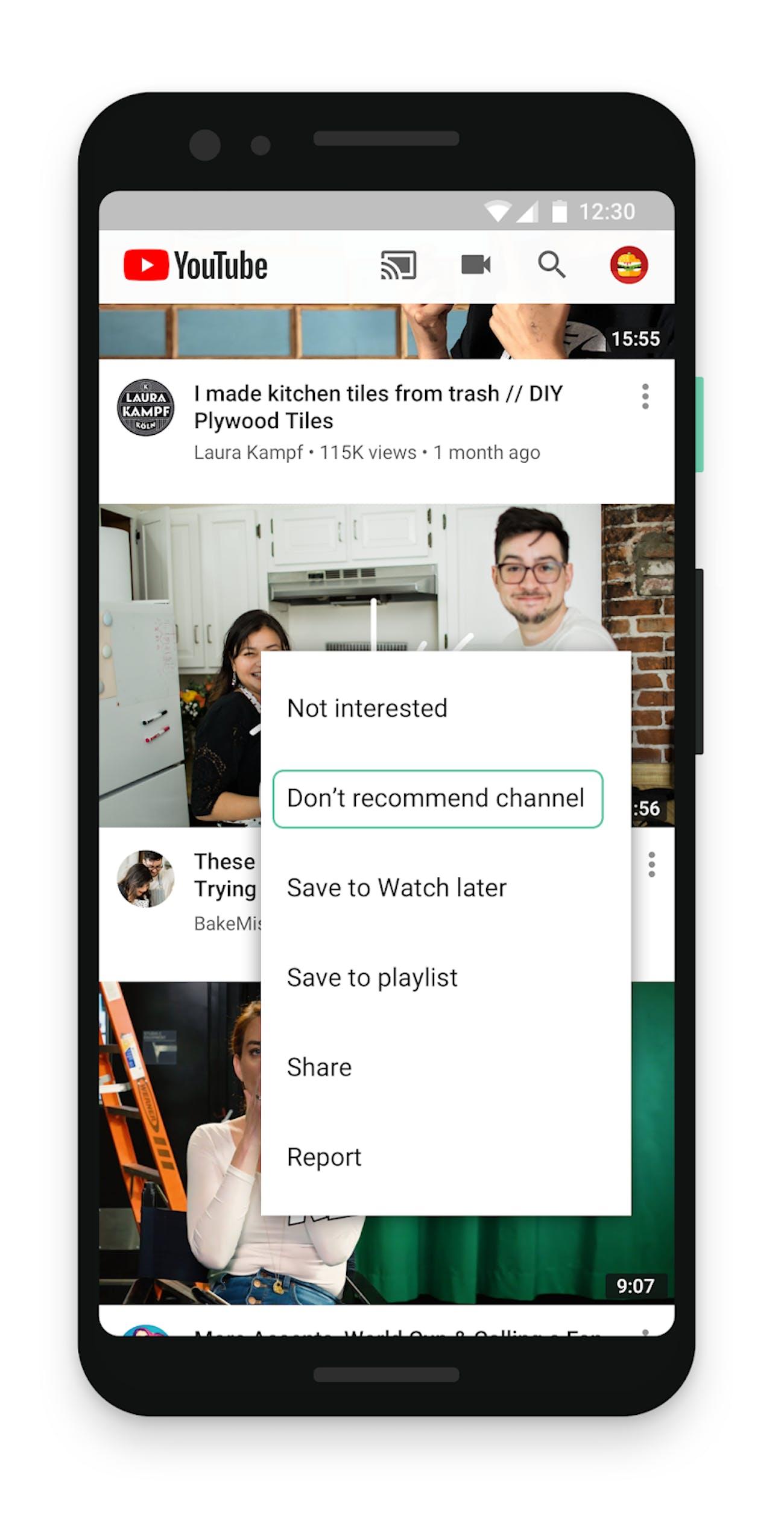 Youtube controls
