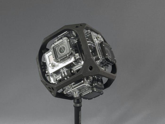 A six camera GoPro rig