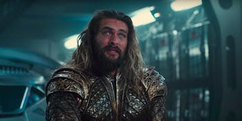 Jason Momoa as Aquaman in 'Justice League'.