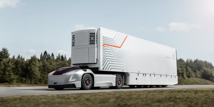volve autonomous truck volvo electric truck