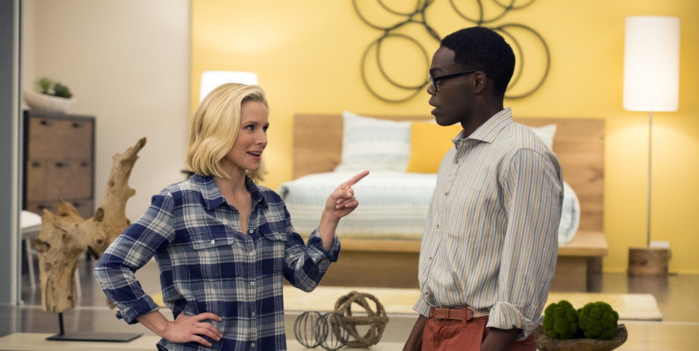"A scene from ""The Good Place."""