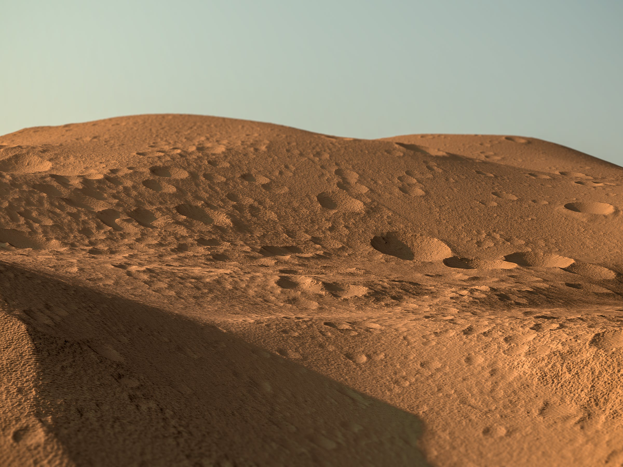 Layers in a Scarp on Olympus Mons on Mars