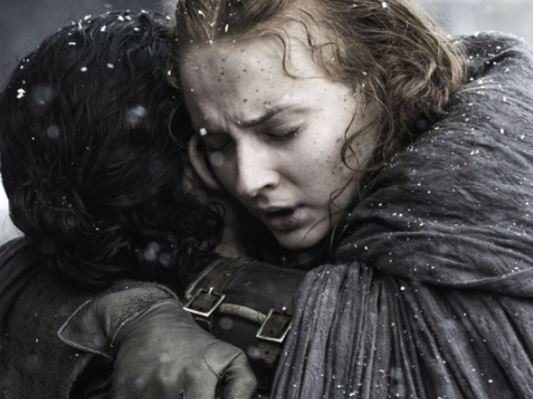 Sophie Turner and Kit Harrington in 'Game of Thrones'