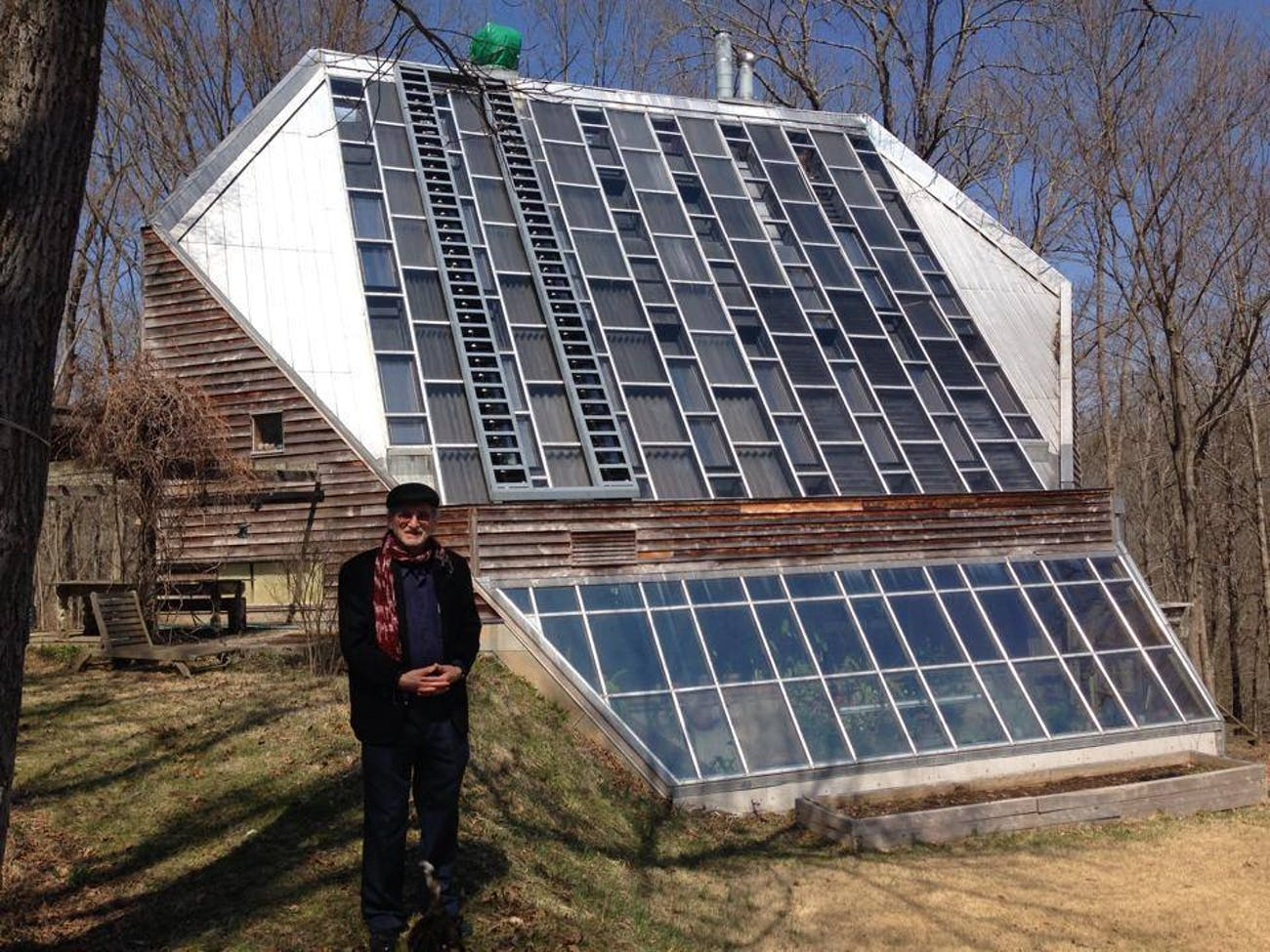 The Raven Run solar house in Kentucky from the 1970s