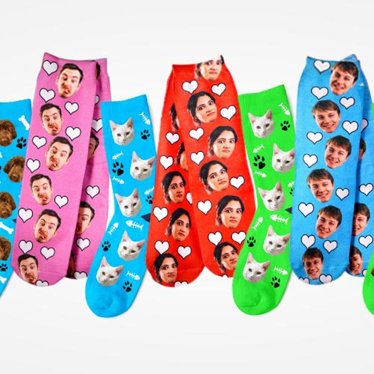 buying now choose original beautiful design Personalized Socks: 25% Off Just Face It Face Socks