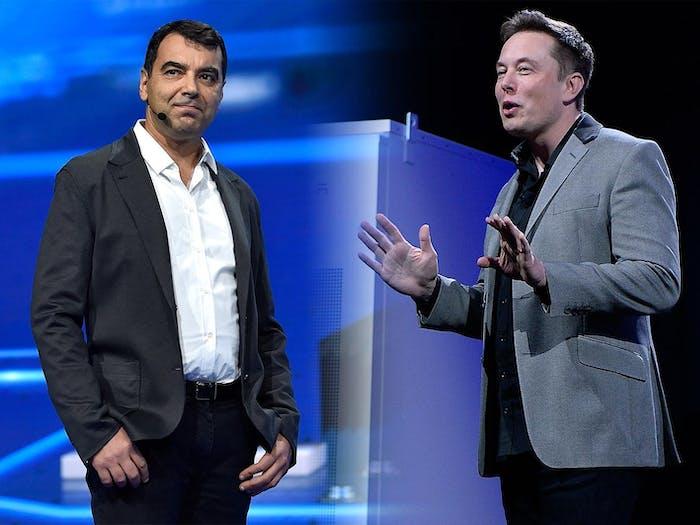 Amnon Shashua and Elon Musk.