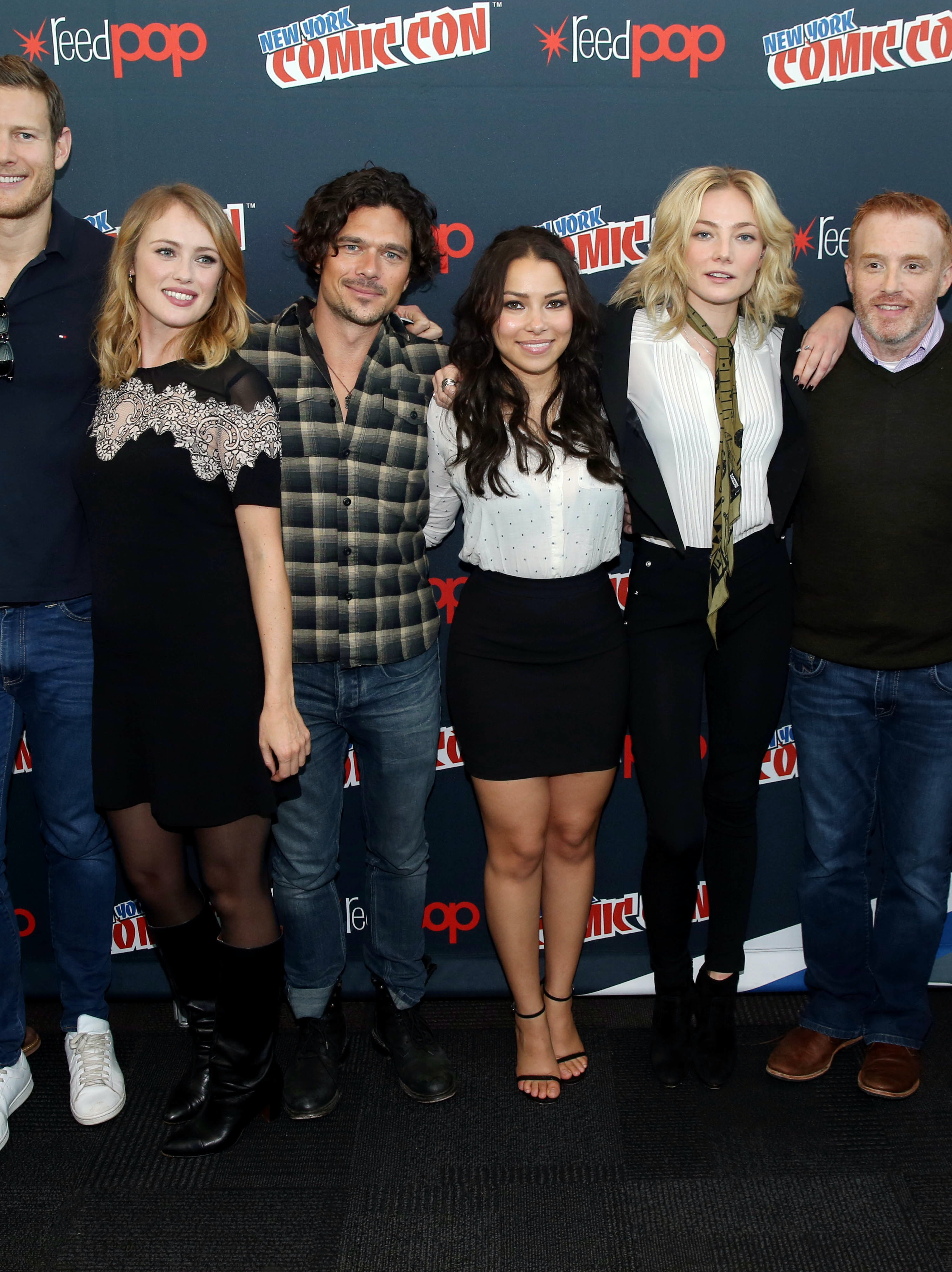 'Black Sails' creators and cast at New York Comic Con: Dan Shotz, Tom Hopper. Hannah New, Luke Arnold, Jessica Parker Kennedy, Clara Paget, Jonathan Steinberg, and Robert Levine