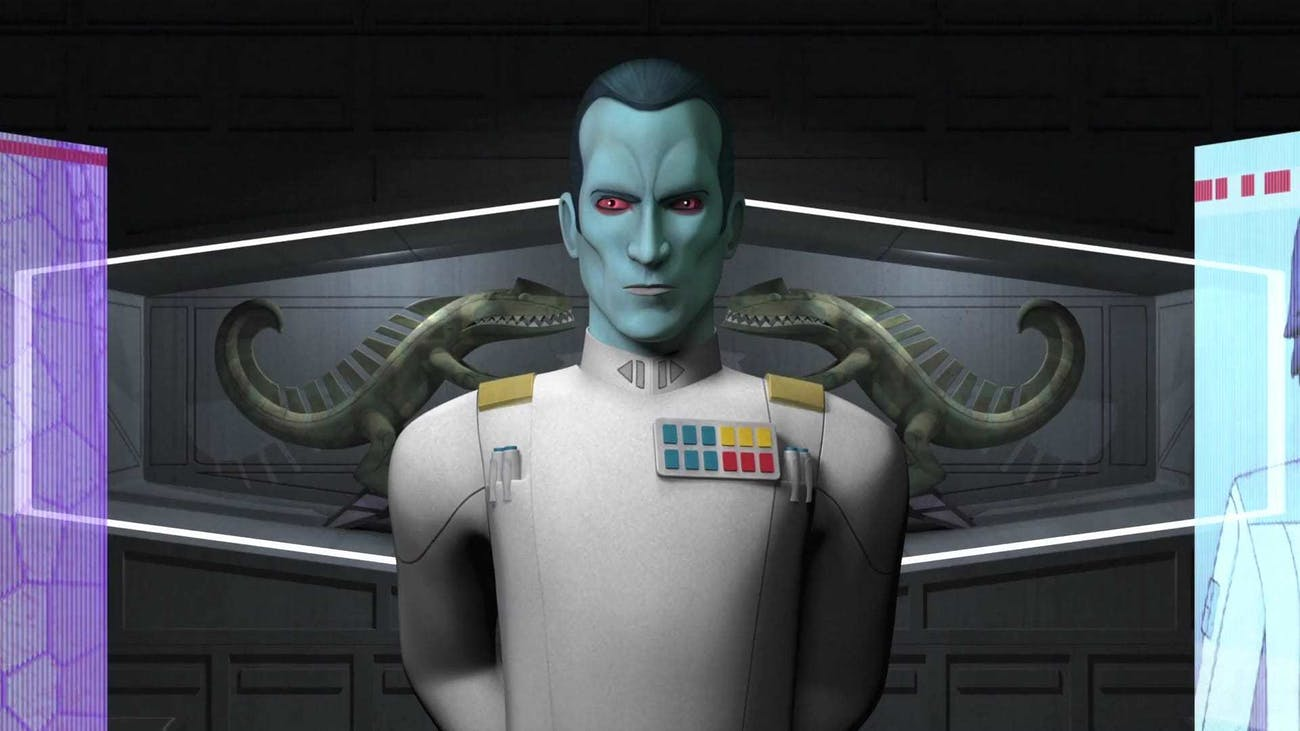 Grand Admiral Thrawn as he appears in 'Rebels'Grand Admiral Thrawn as he appears in 'Rebels'