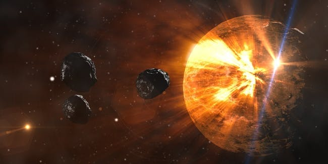 Asteroids in space