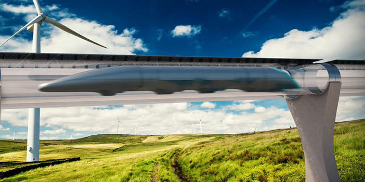 A rendering of what a Hyperloop could potentially look like.