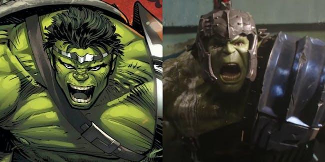 thor ragnarok hulk gladiator