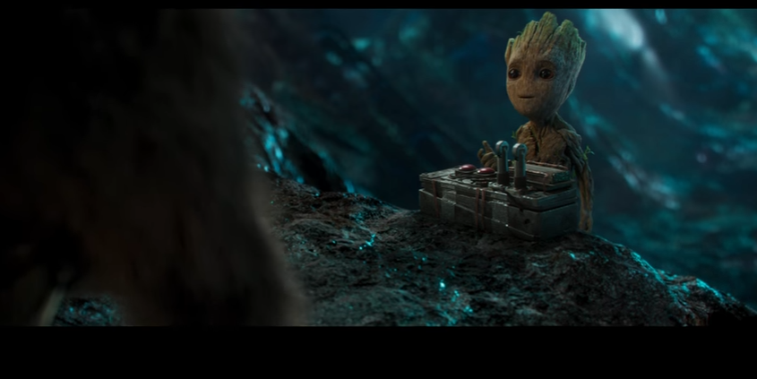 Baby Groot almost kills in the Guardians in the new trailer.