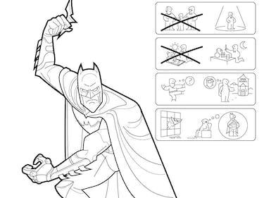 Artist Imagines Superhero Origin Stories as Ikea Instruction Manuals