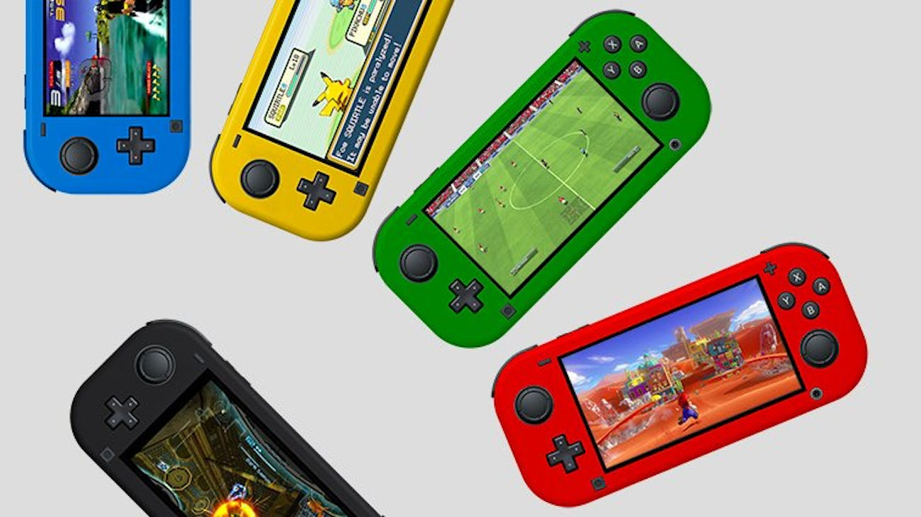 nintendo switch  lite mockup
