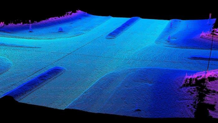A Waymo self-driving car map.