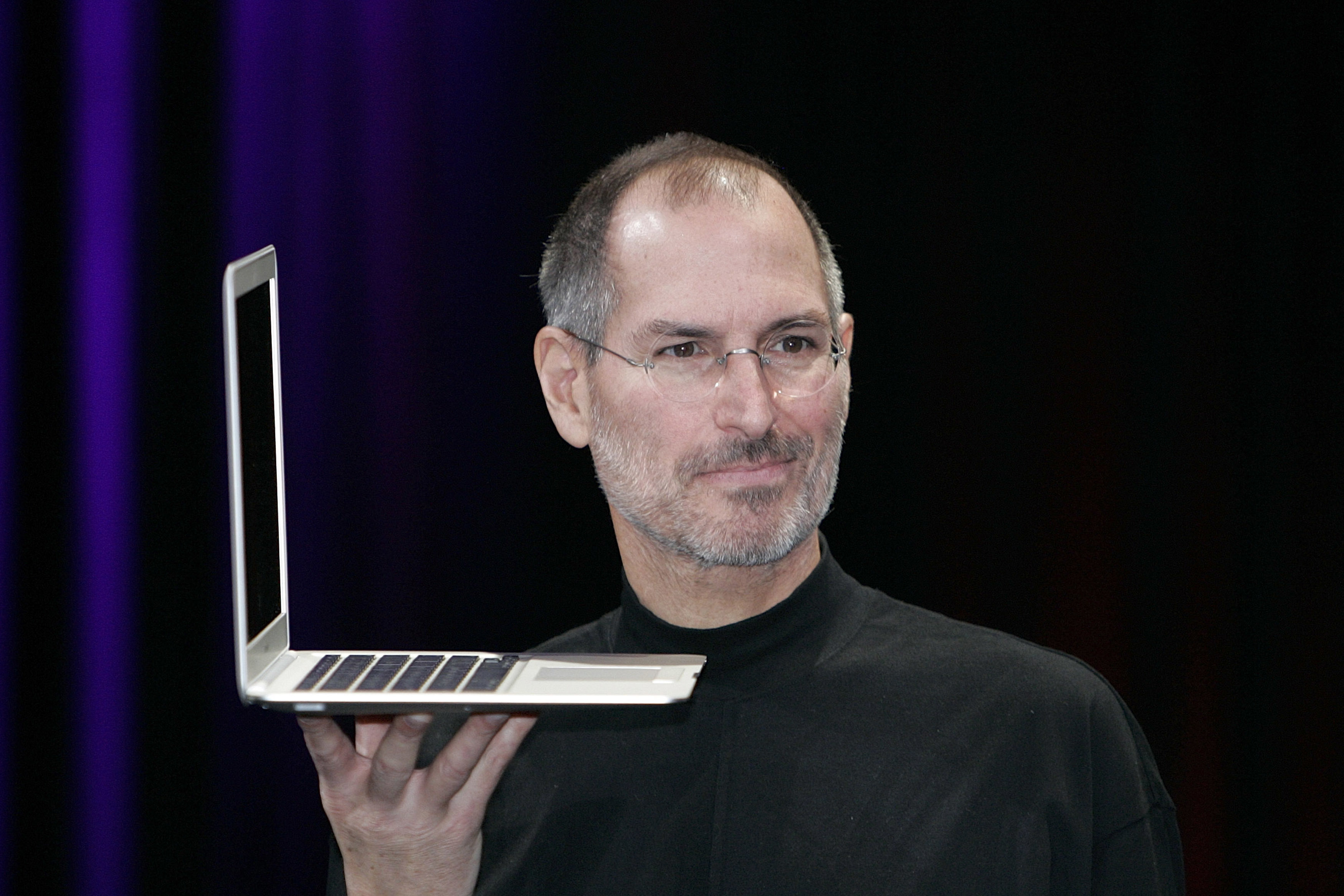 The MacBook Air featured a giant multi-touch trackpad.