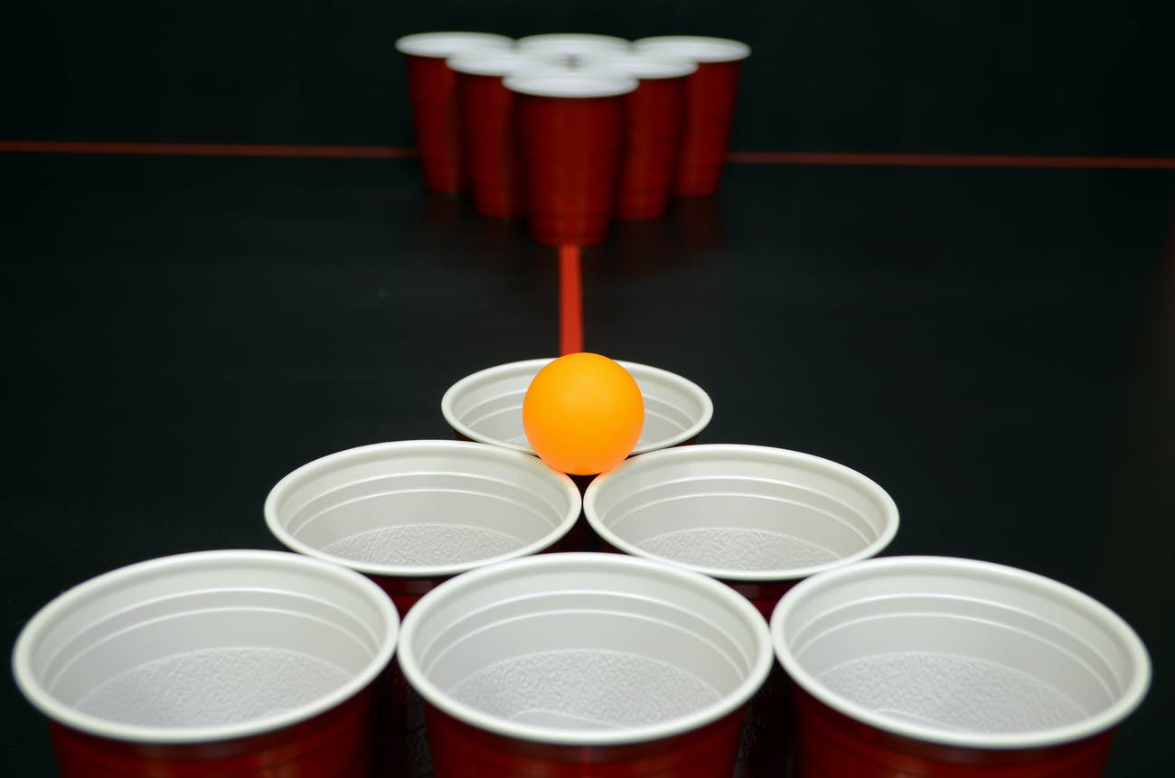 beer pong, drinking