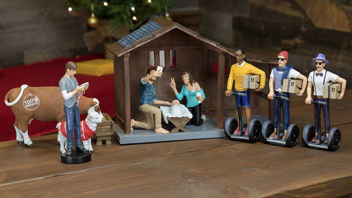 The Modern Nativity Scene in all its glory.