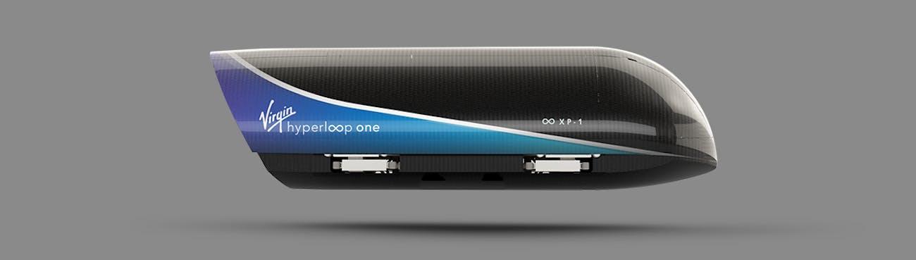 The Virgin Hyperloop One pod.
