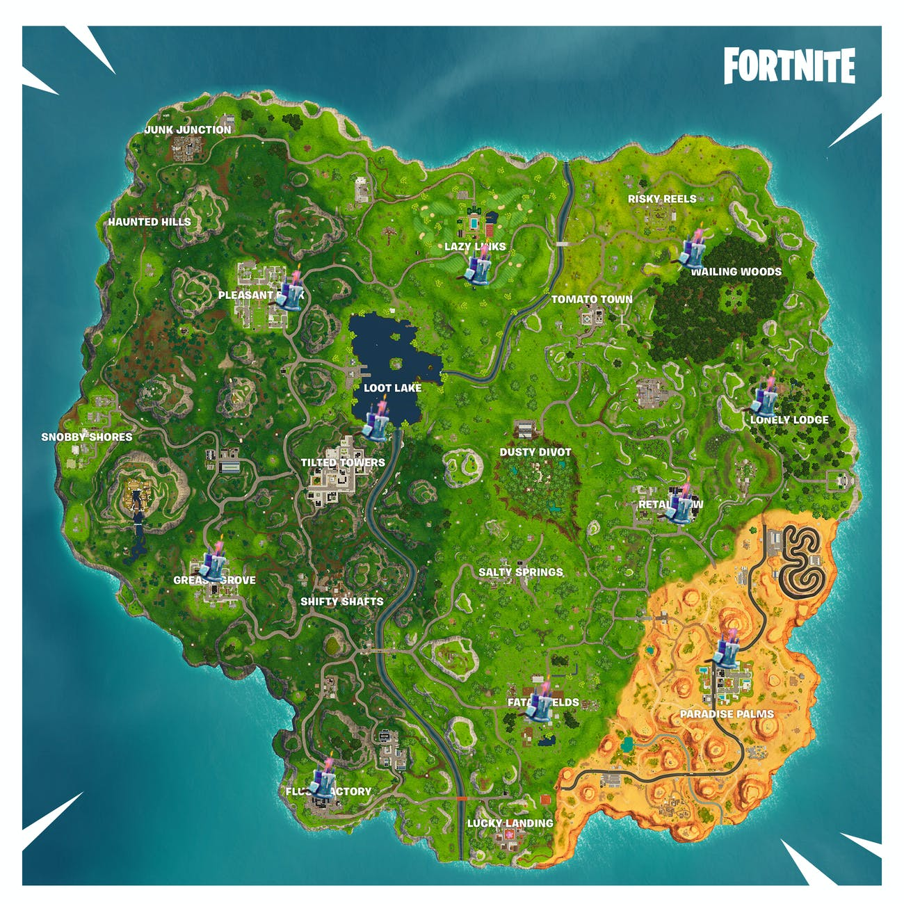 Fortnite' Birthday Cake Locations: Where to Find Every Cake ... on map quotes, map making, map for us, map with title, map project ideas, map cincinnati ohio, map in europe, map guest book, map my route, map party decor, map with mountains, map niagara on the lake, map in spanish, map from mexico, map with states, map facebook covers, map themed paper products, map timbuktu, map photography, map of the,
