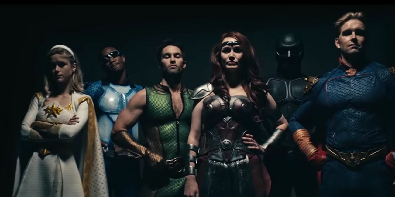 The superhero characters from the April 17 trailer for Amazon's 'The Boys'