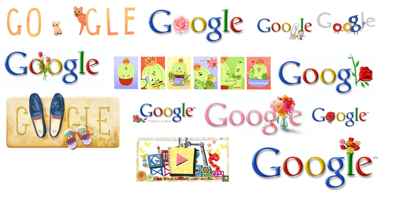 Mother's Day Google Doodles