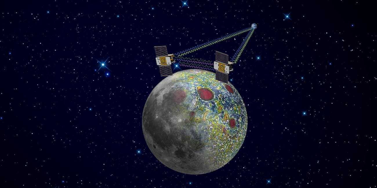 Aside from detecting the metal anomaly, the GRAIL mission also mapped the Moon's gravity field.