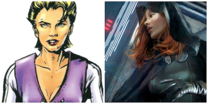 Luke's non-canon lovers: Callista (Left) Mara Jade (Right)