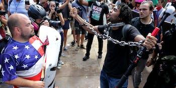 charlottesville university of virginia racism psychology white black animal flag
