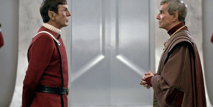 Spock and Sarek in 'Star Trek IV: The Voyage Home.'