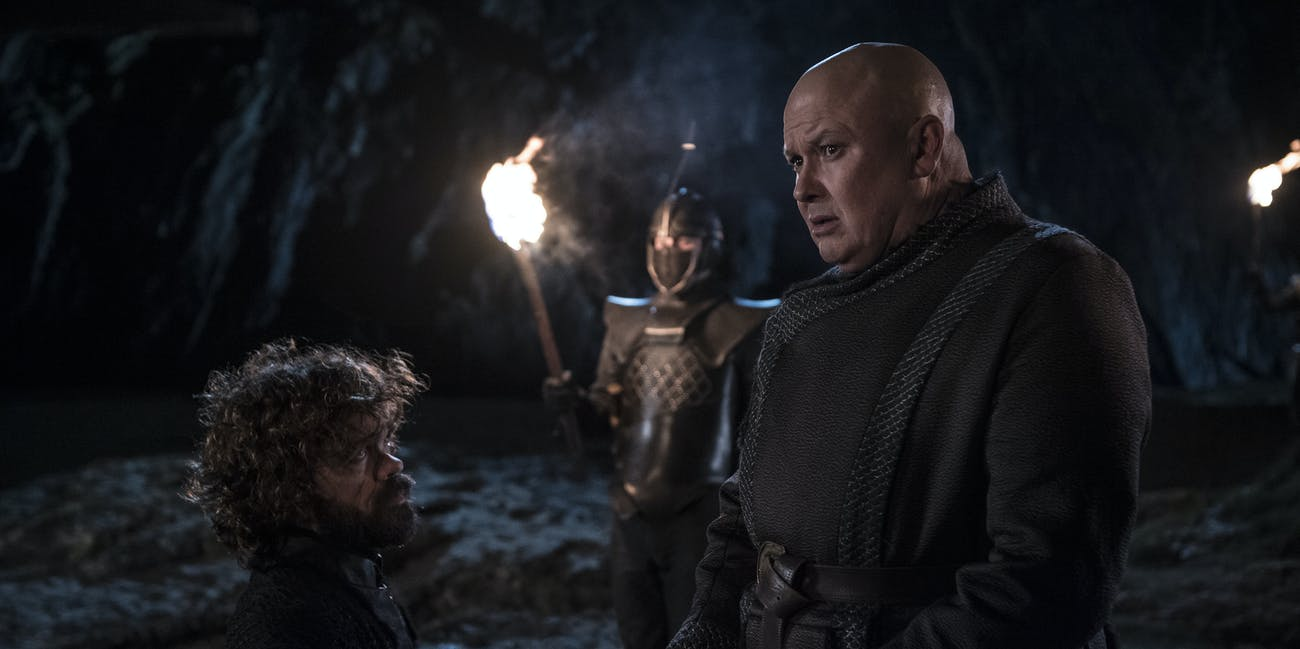 Tyrion (Peter Dinklage) and Varys (Conleth Hill) on 'Game of Thrones' Season 8