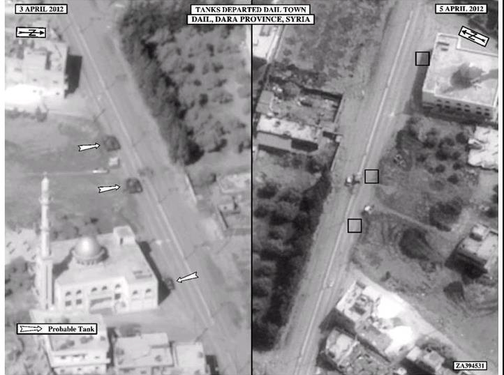 NRO image of tanks in Syria in 2012, monitoring the conflict there as it grew into civil war.