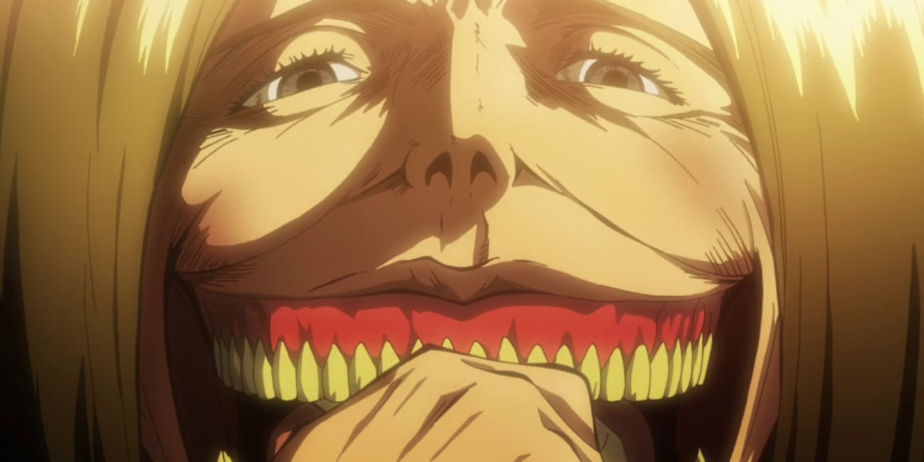 The Smiling Titan was the one that devoured Eren's mother.