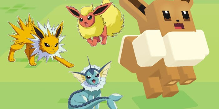 Yes, you can pick your Eevee evolution in 'Pokémon Quest'.