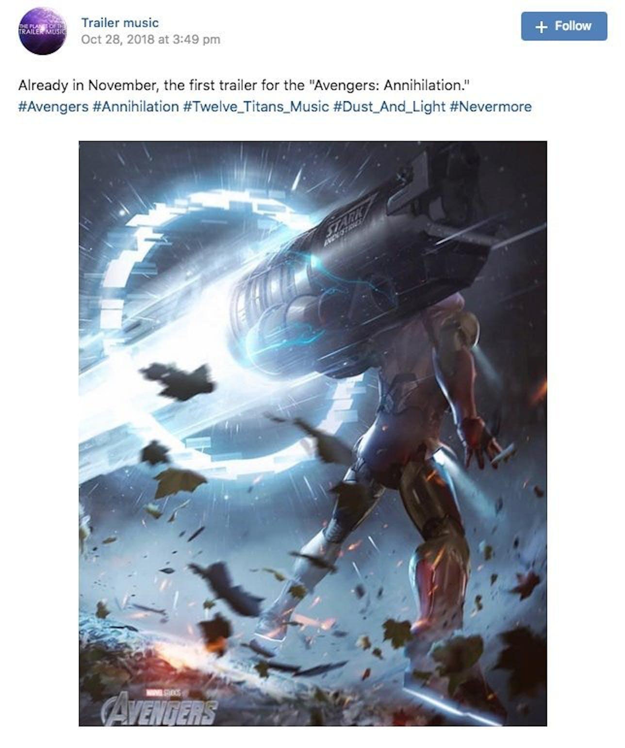 avengers 4 trailer leak teases a moody reunion november release