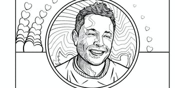 elon musk coloring book profile pic