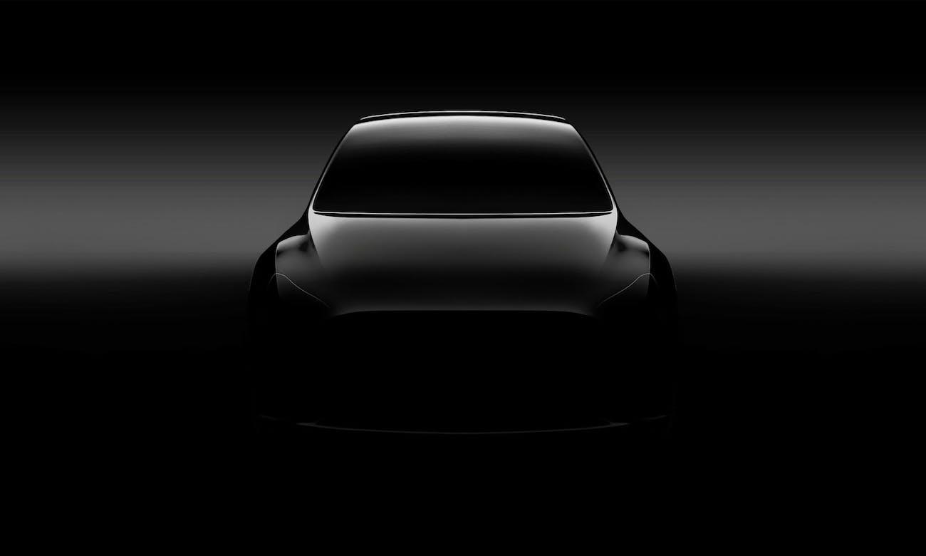 Tesla Model Y promotional image.