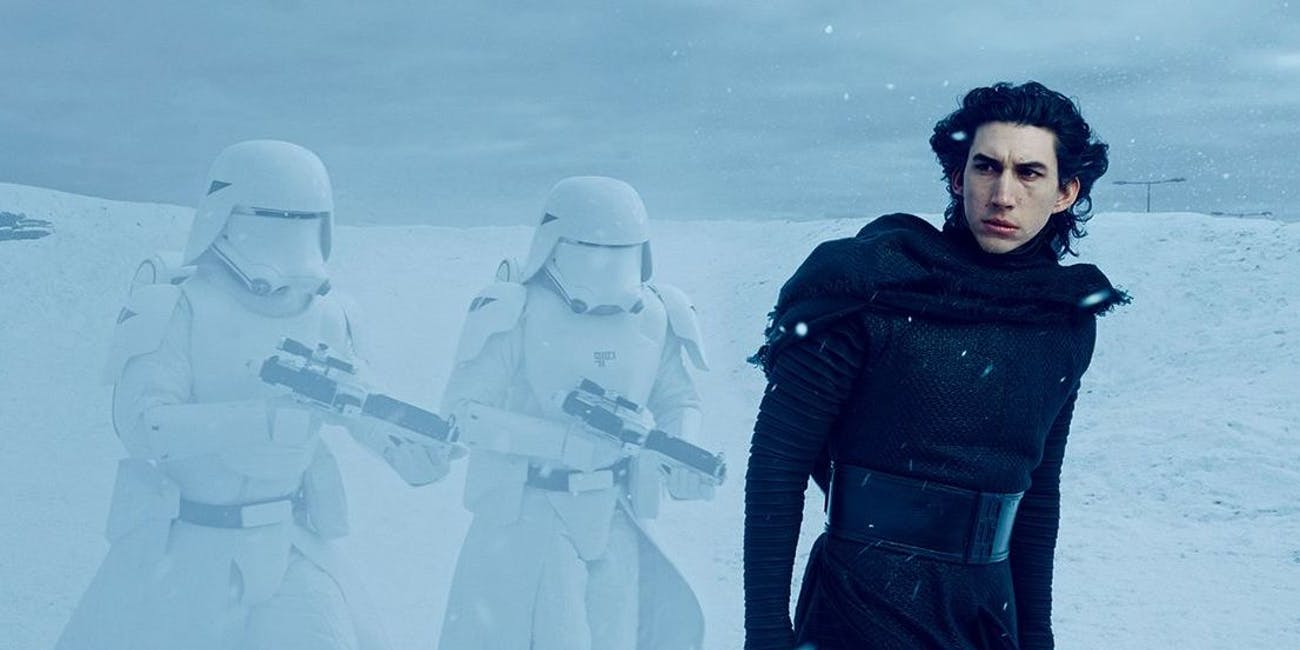 Kylo Ren in a deleted scene from 'The Force Awakens'