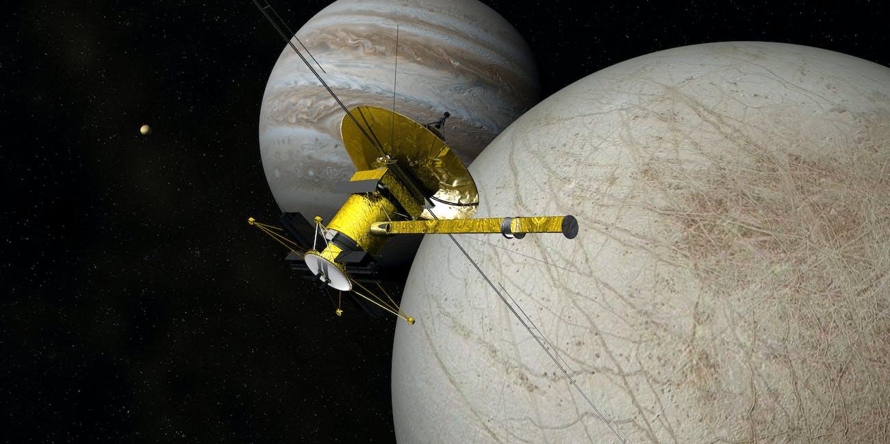 The Clipper Spacecraft Above Europa - Ver 2/B