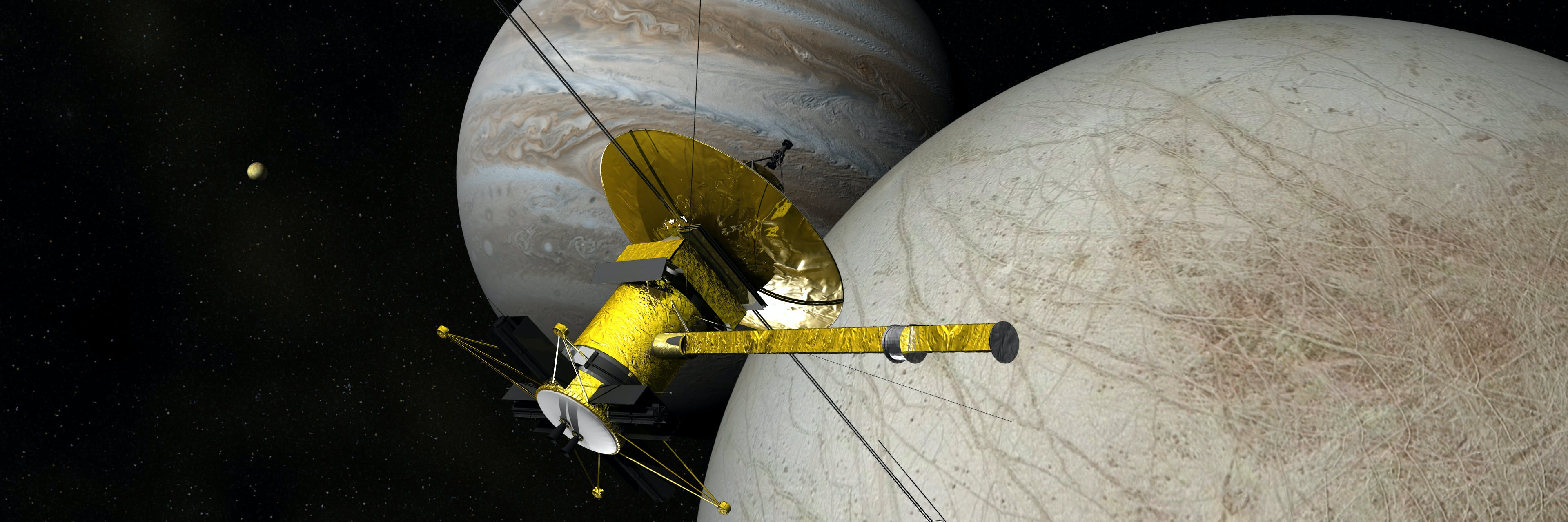 The Clipper Spacecraft Above Europa - Ver 2/B