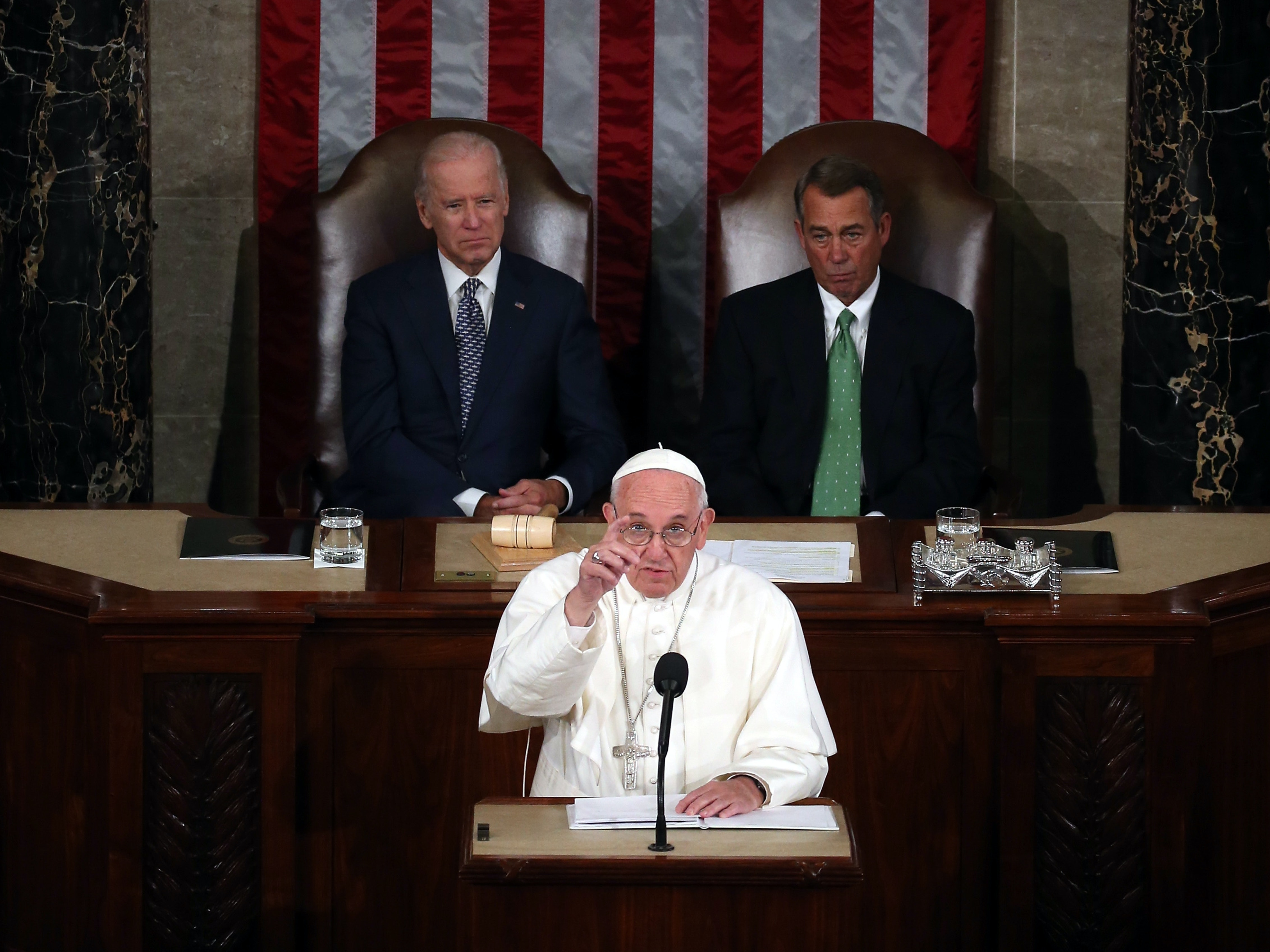 The Pope Urges Congress to 'Include Everyone' on Climate Change