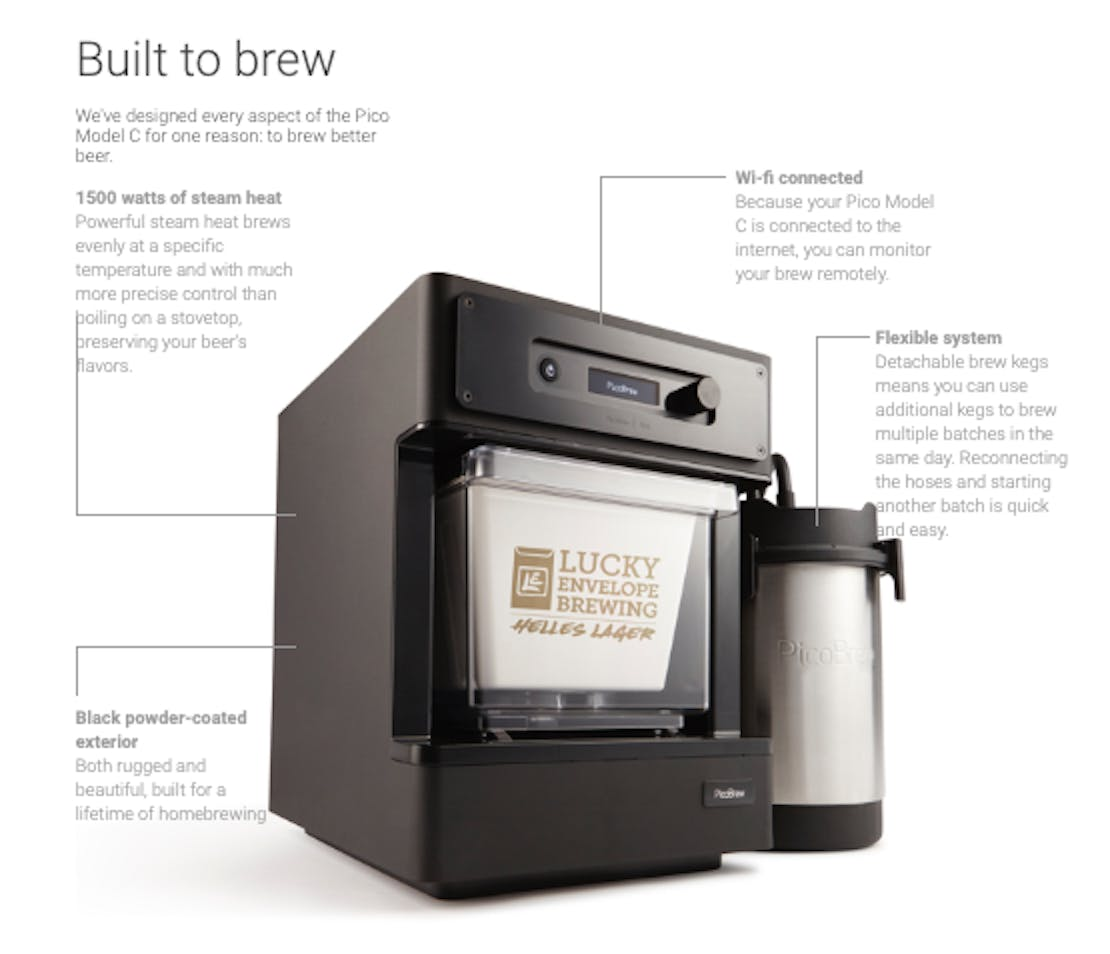 picobrew home brewing kit