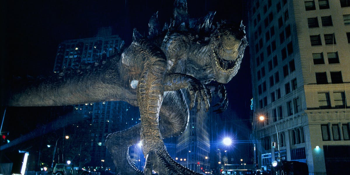 The 1998 Godzilla was in many ways a departure from the classic Godzilla design.