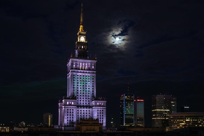 The Palace of Culture and Science on Wednesday.
