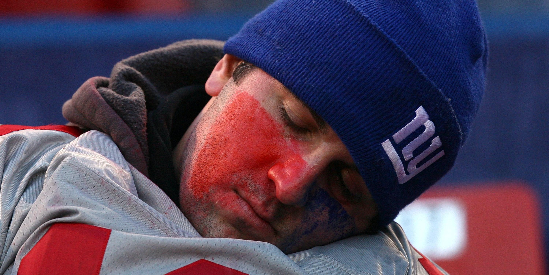 One tired Giants fan.