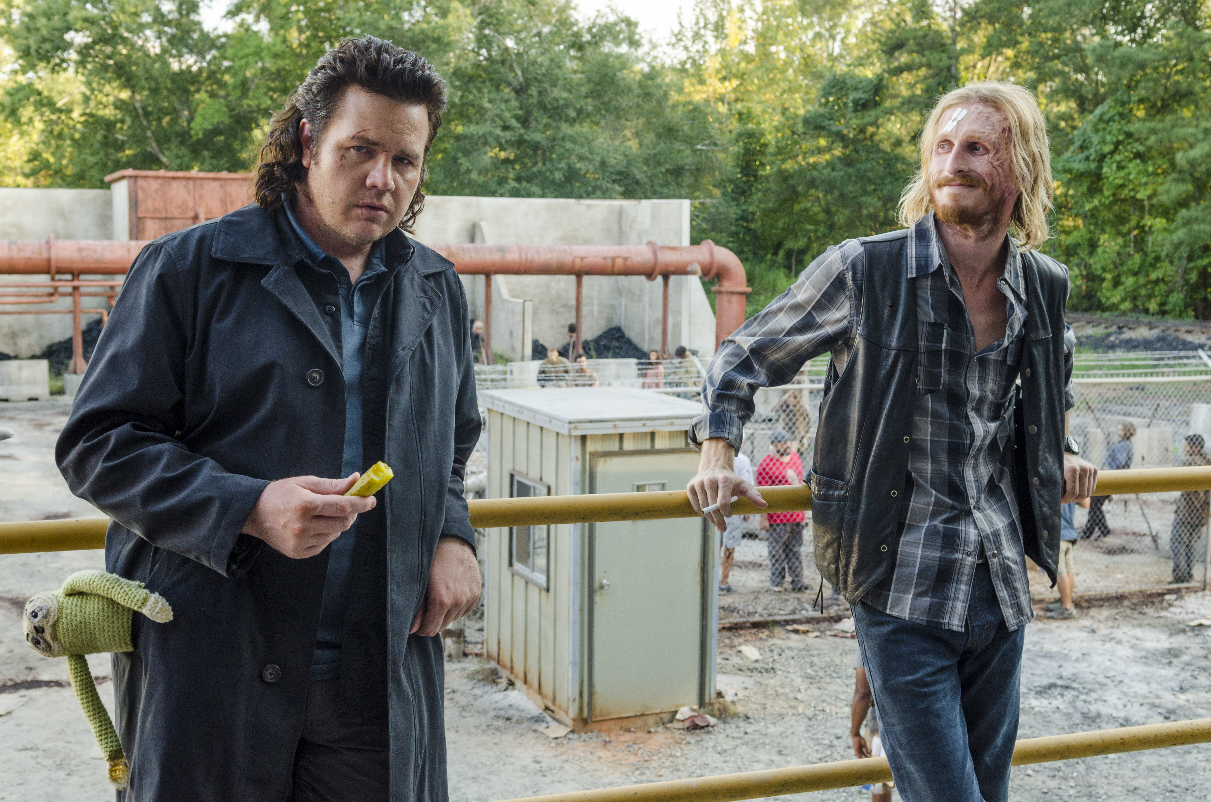 Eugene and Dwight on 'The Walking Dead'