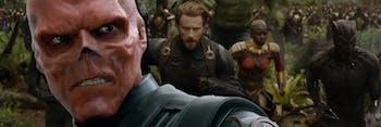 Avengers Infinity War Captain America Red Skull