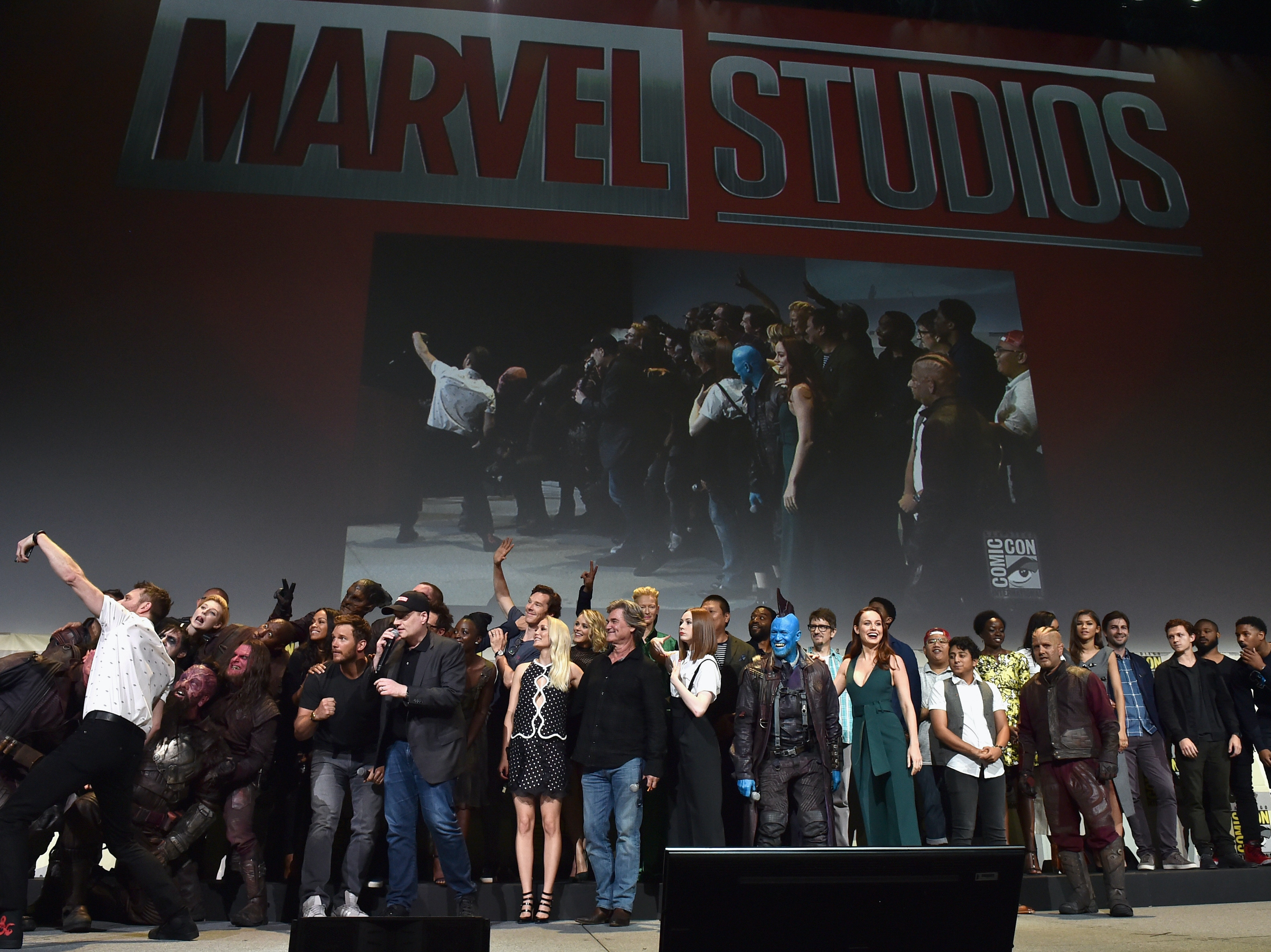 The casts and filmmakers  from Marvel Studios' attend the San Diego Comic-Con International 2016 Marvel Panel.